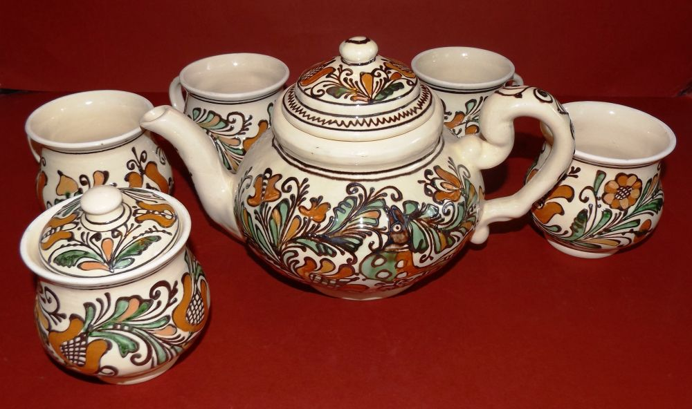 d3a4150f1a Korondkincse teás készlet - Korondi kerámiák és népművészet webáruháza
