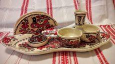 Asztali só és bors szett ovális tálcán