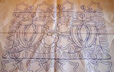 Előrajzolt irásos párna garnitúra