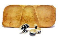 Pecsenyés szett fatállal (5 részes)