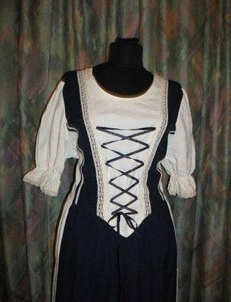 bece2cfcbd Rusztikus ruha kék szinben - Korondi kerámiák és népművészet webáruháza