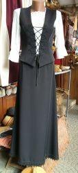 Bocskai zsinorozású fekete kosztüm