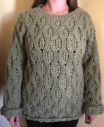Kézzel kötött pulóver