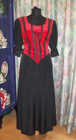Gála ruha tükörbársonyból piros - Korondi kerámiák és népművészet ... e846b84312