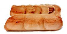 7 részes fatányéros készlet, fatálas