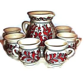 9614017060 Forralt boros készlet 7 részes - Korondi kerámiák és népművészet ...