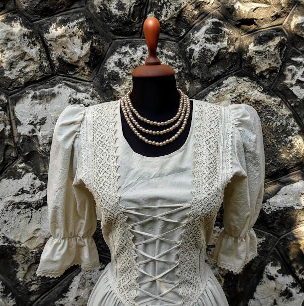 Rusztikus ruha nyers színben - Korondi kerámiák és népművészet ... 8690b03738